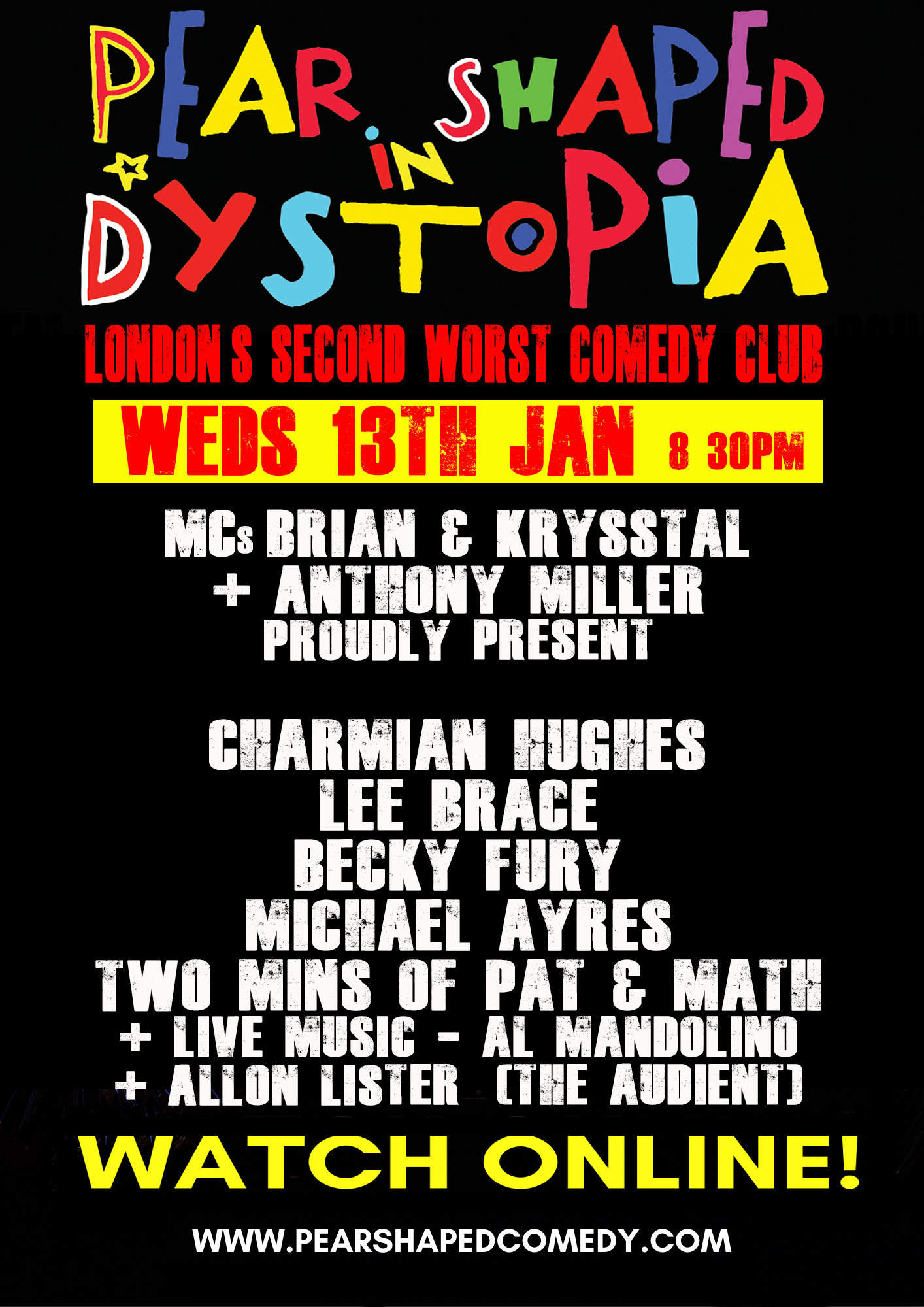 Pear Shaped in Dystopia Flyer 2